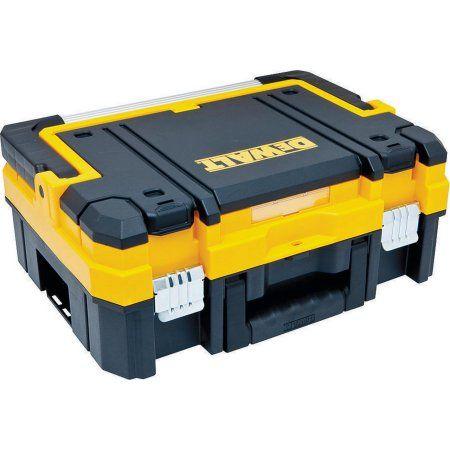 DeWalt Tstak I Long Handle Tool Box 7.3 in W x 17.3 in D x 13 in H, 66 lb, Black/Yellow
