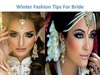 Winter Fashion Tips For Bride  Beautiful Indian bridal saree is designed in different color by using satin, silk fabric with crystal, stone, lace, embroidery, bead work and a beautiful designer blouse.