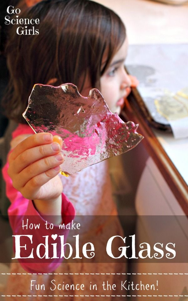 Have you ever wondered how glass is made, and why it is transparent? Make your own Edible Glass and learn all about it. Fun science in the kitchen!