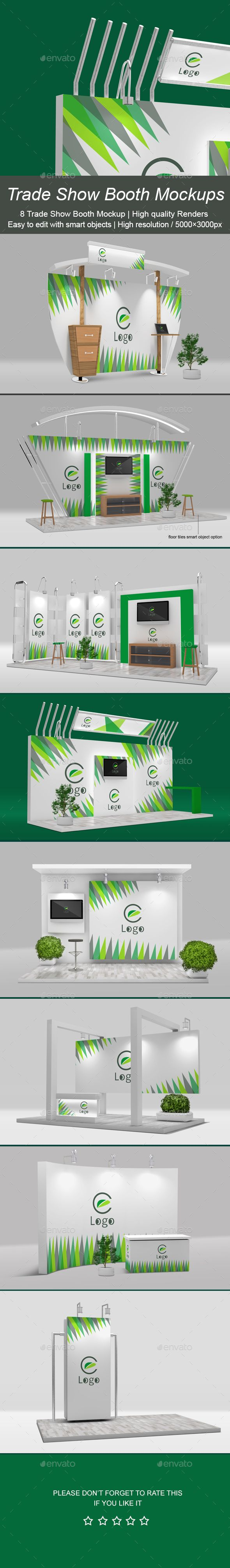 Trade Show Booth Mockup Design Template - Signage Print Template PSD. Download here: https://graphicriver.net/item/trade-show-booth-mockup-/16961599?s_rank=266&ref=yinkira