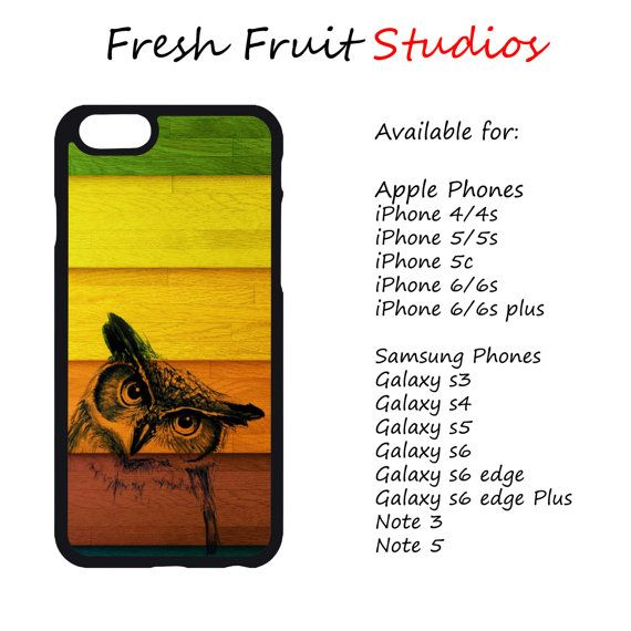 Colorful Owl Phone Case  iPhone 4/4s 5/5s 6/6 by FreshAFstudios