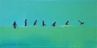 "Saatchi Art Artist Agnieszka Kozień; Painting, ""On the water nr 52"" #art"