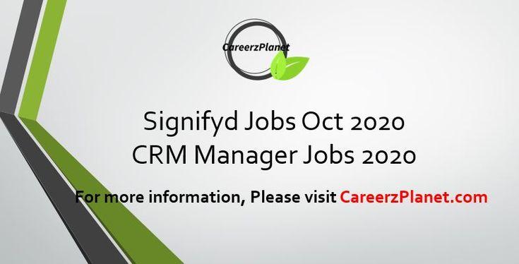 Crm Manager Jobs 2020 Signifyd Com Careers 2020 Job Posting Job Crm