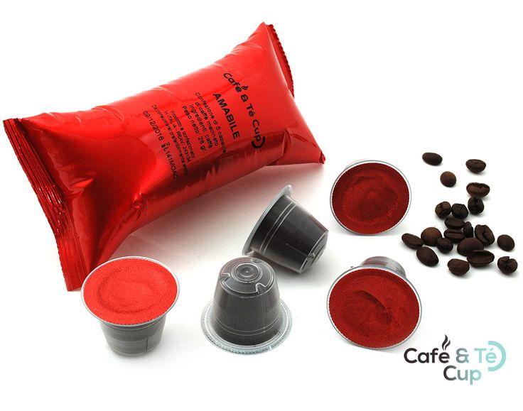 Cápsulas de #cafe para #nespresso.  Amabile. Intensidad 7. Un café largo, pero de cremosidad intensa