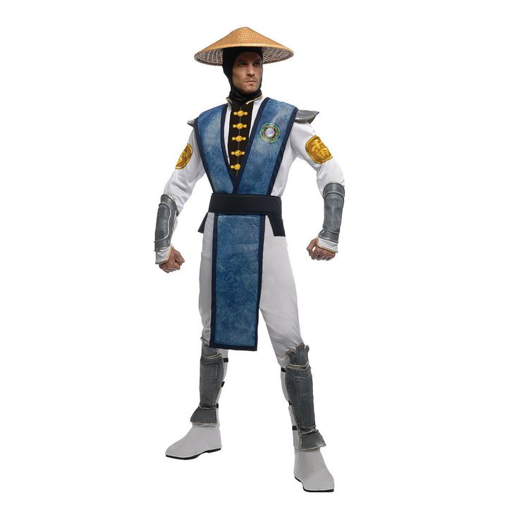 Adult's 'Raiden' Mortal Kombat Costume Fancy Dress Party Outfit, Cos-Play #Rubies #CompleteOutfit