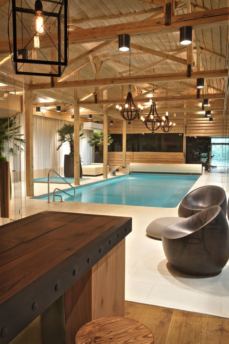 Project by Safranow. Private swimming pool.  Eclectic style - interior.