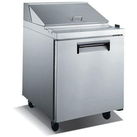 Commercial Stainless Steel Refrigerated Salad/Sandwich Prep Table – 1 Door, 27″