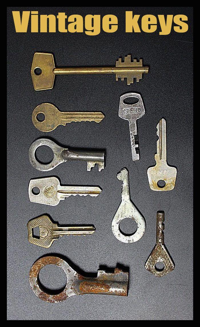 Old Keys From The Past. Vintage keys Old Door Keys Set of 10 Old Keys Useful Old Keys Old Keys for Old Doors