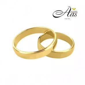 Forlovelsesringer - gifteringer fra OREST, glatte i gult gull 14kt/585, bredde er 4 mm.      #gullsmed  #forlovelsesringer  #salg  #norge  #trondheim  #spitsbergen  #nettbutikker  #billige  #forlovelsesringer  #diamantring  #Smykker