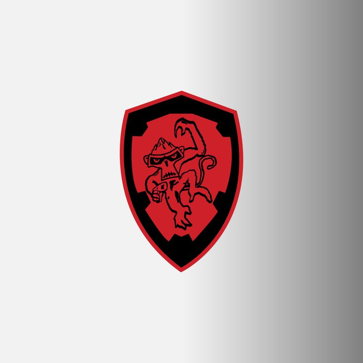 "Angry Monkeys Racing Logo Decals, 2"""