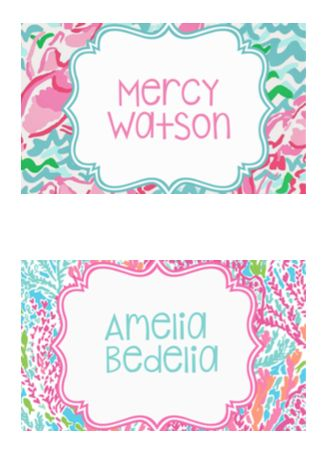 Lilly Pulitzer Book Bin Labels for your classroom library!  Preppy classroom fun