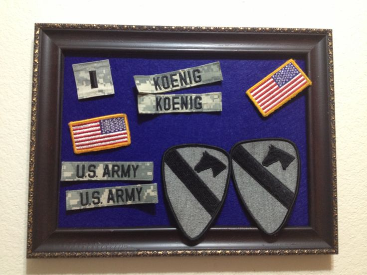 Use felt in frame to hold patches while washing uniforms. Army Wife Life