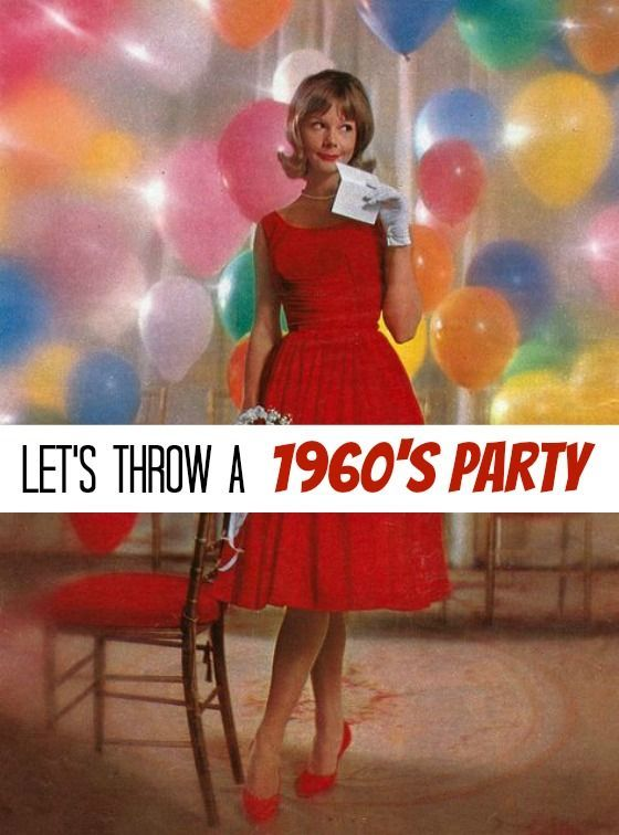 Need an idea for a party? Why not the swinging 60s? Here are tips and tricks for decor and food so you can easily throw a fabulous 1960s soiree! | The Glamorous Housewife