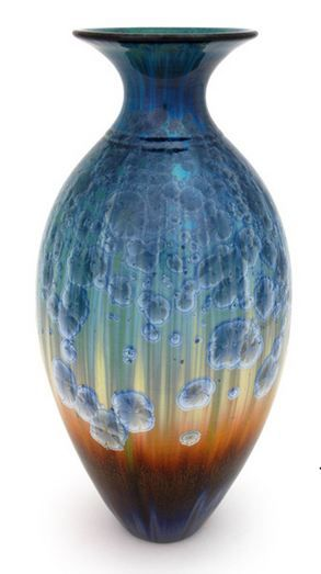 Pottery by Bill Campbell | Matte Crystalline Vase