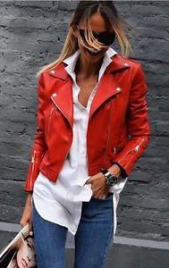 red leather moto jacket outfit  