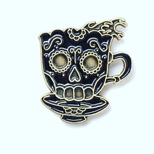 It all started with a cup of coffee and our love for skulls. #tbt Our radio silence is coming to an end, stay tuned! Thank you so much for continuing to put in orders and show us love. 🙌 ☕️💀 Be Well. #7wdesign #pins #pinsofig #coffee #black #deathbeforedecaf #coffeeporn #coffeeordie #hotcoffee #blackcoffee #cafe #coffeeporn #instacoffee #coffeeart #dailycoffee #coffeetime #dripcoffee #pourover #baristalife #goodcoffee #coffeelover #denimandcoffee #denimxcoffee #skulls #tattoos #tradition…