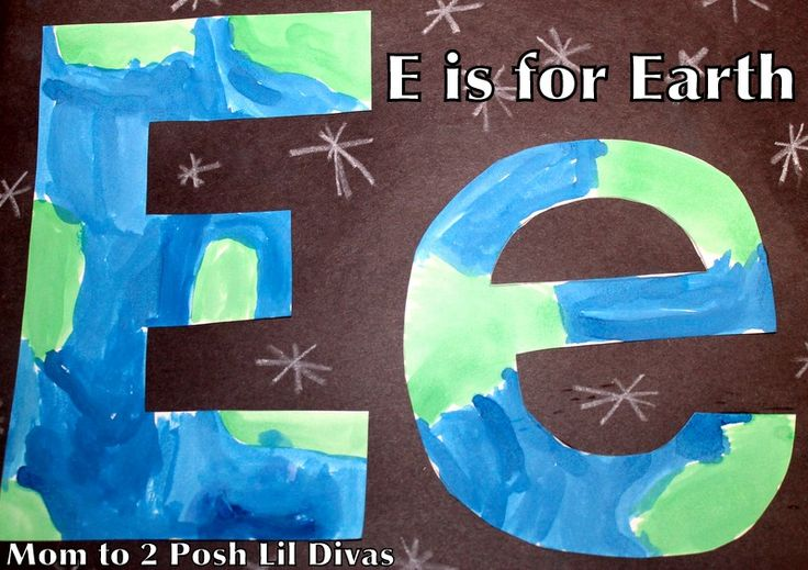 Mom to 2 Posh Lil Divas: ABC Fun E is for Earth - Crafts, Phonics & Writing Activities for Preschool