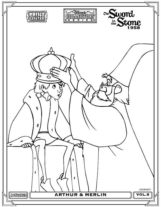 the sword in the stone color page disney coloring pages color plate coloring