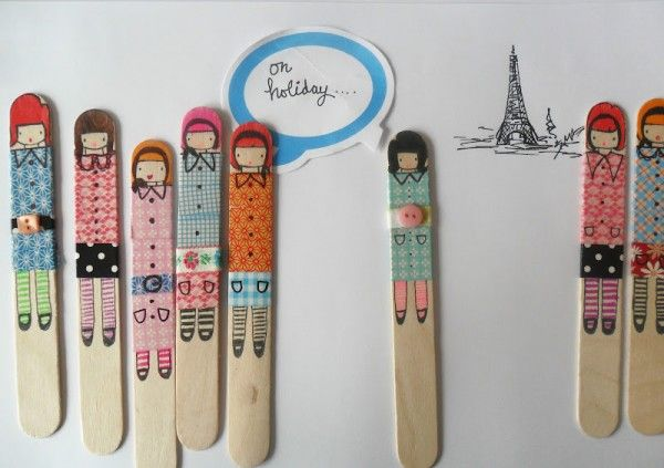 Adorable popsicle stick people.
