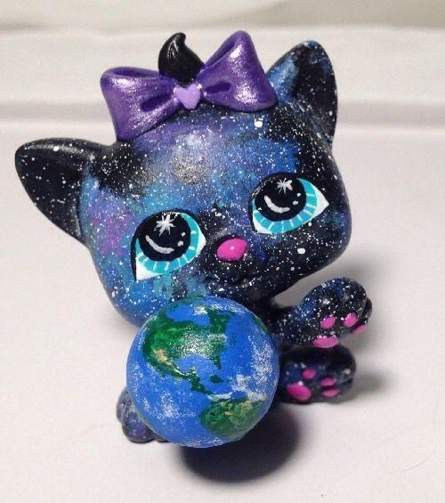 Hobbymomcustoms Littlest Pet Shop Cat Galaxy Kitten
