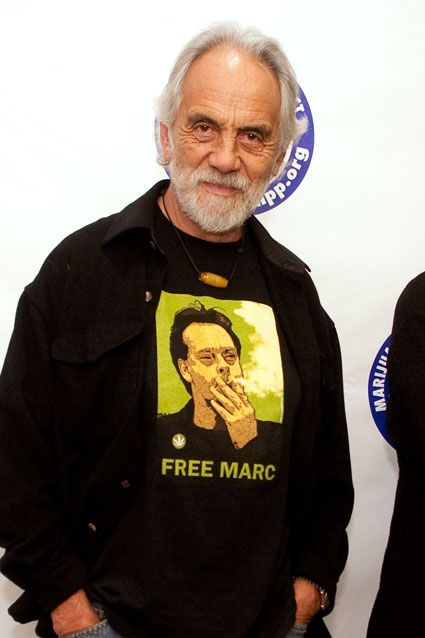 "Tommy Chong    Tommy Chong has pretty much been the poster child for marijuana use since 1978's Up in Smoke, so it's no surprise he wants to legalize the drug. On the website CelebStoner, he wrote, ""Hey stoners, don't forget to vote for Prop. 19! Legalize it! Get it Legal! Let's grow up as a country and recognize the plant that can and will save the world!"""