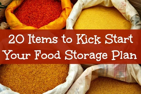 The items in this kick-start plan will provide you with a solid foundation of food to get you through almost any emergency. There is lots of variety here which is an important consideration to avoid food fatigue. 20 Items to Kick Start Your Food Storage Plan   Backdoor Survival