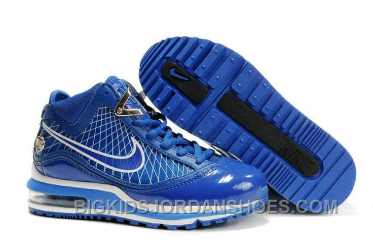 http://www.bigkidsjordanshoes.com/nike-air-max-lebron-vii-kids-blue-blue-white-cheap.html NIKE AIR MAX LEBRON VII KIDS BLUE BLUE WHITE CHEAP Only $85.00 , Free Shipping!