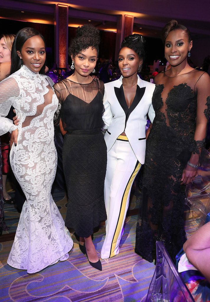 Aja Naomi King, Yara Shahidi, Janelle Monae, Issa Rae at the Essence Black Women in Hollywood Awards Feb. 23, 2017
