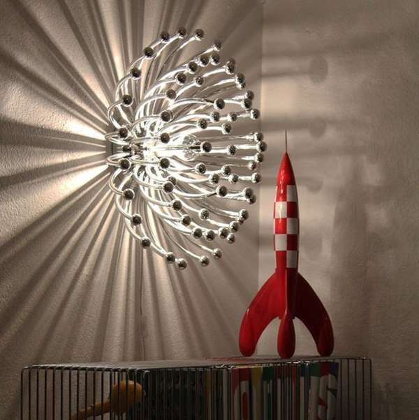 The Pistillo Lamp is an Explosion of Light and Shadow on Your Wall #luxury trendhunter.com