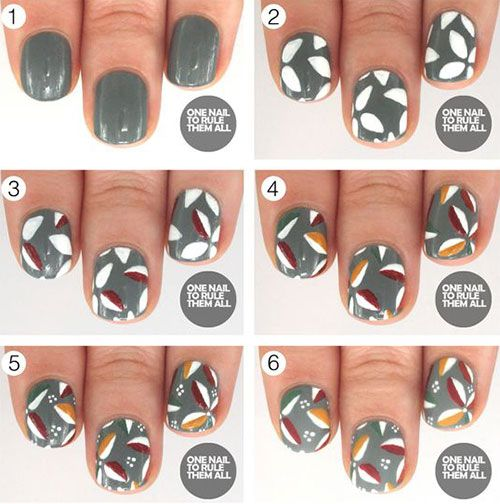 18 best Step By Step Thanksgiving Nail Art Tutorials ...