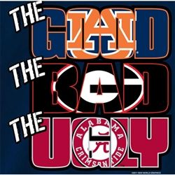 Auburn Tigers Football T-Shirts War Eagle - The Good The Bad The Ugly