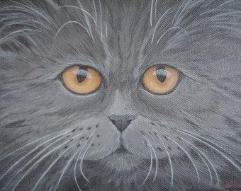Graue persische Katze Ohrringe von HandMadeBeadedCrafts auf Etsy