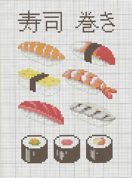 Sushi Cross Stitch Patterns