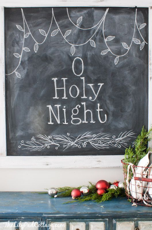 christmas chalkboard o holy night - Chalkboard Designs Ideas