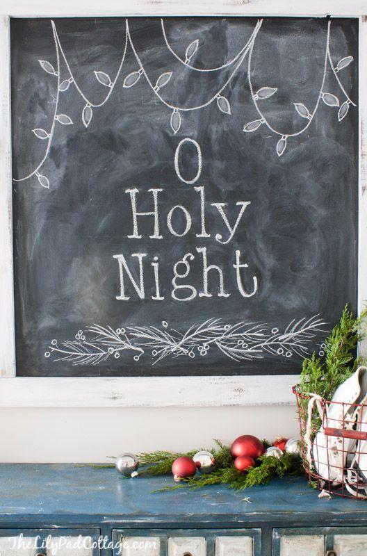 Christmas Chalkboard Design | The Lilypad Cottage