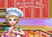 Pregnant Elsa Baking Pancakes   juegos de cocina - jugar online