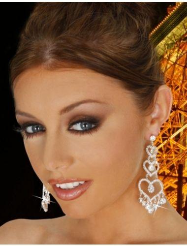 Rhinestone Heart Earrings | Fashion Earrings | Jewelery | StringsAndMe