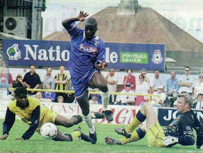 Gillingham 2 Shrewsbury Town 0 in May 1997 at Priestfield Stadium. Ade Akinbiyi scores #Div2