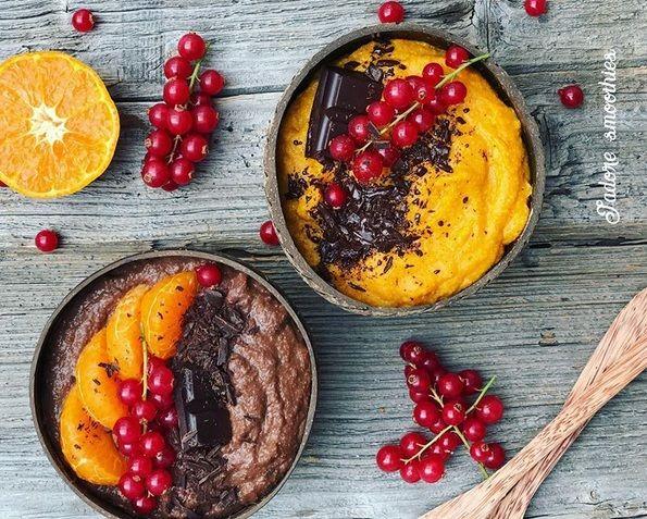 Pudding jaglany w dwóch wersjach: marchewkowo-pomarańczowej i czekoladowej, ulubionej kaszki jaglanej dzieci