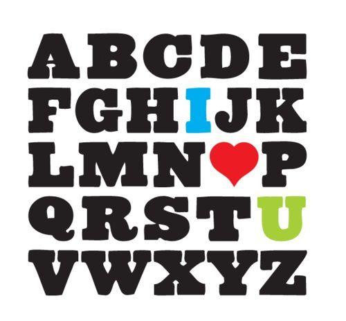Alphabet I <3 U