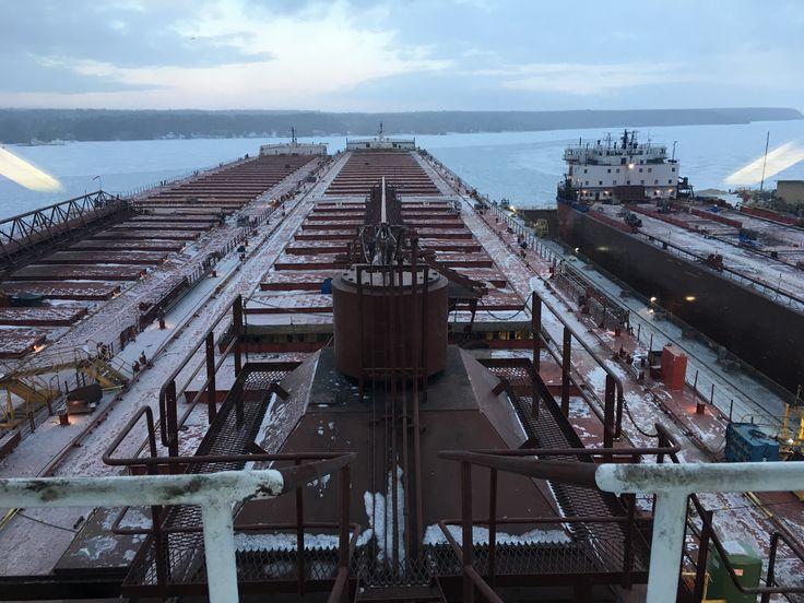 View from Paul R Tregurtha at Fincantieri Bay Shipbuilding Sturgeon Bay, Door County