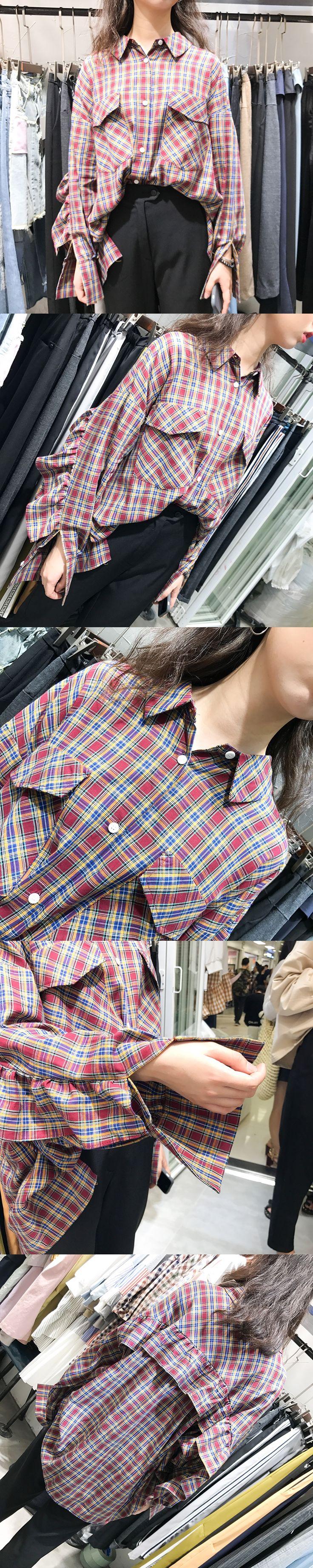 2017 Autumn Women Plaid Shirts Lady Fashion Ruffles Blouse Long Sleeve Polo Collar Blusas Basic Tops + Jeans Set Student Outfit