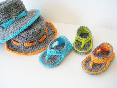 Crochet Dreamz: Trekkers Crochet Pattern, Flip Flop Sandals for Baby Boys, 0-12 months