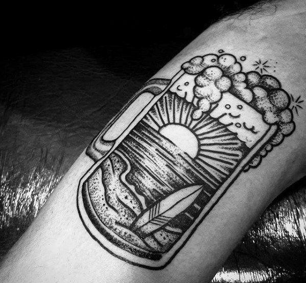 60 Beer Tattoo Designs For Men – Hops Ink Ideas
