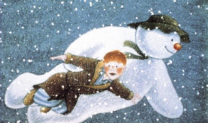 The Snowman : Raymond Briggs : 1982. It had no talking, but it's still one of my favorites