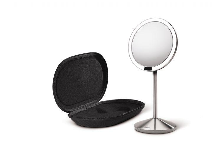 Lustro sensorowe mini - bezprzewodowe z pokrowcem - SIMPLEHUMAN - DECO Salon