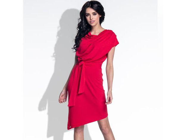 """Elegancka sukienka z efektownym dekoltem """"woda"""" , oraz z rozcięciem na plecach i asymetrycznym dołem.  wykonana z najwyższej jakości dzianiny, zapewnia komfort i wygodę noszenia.  **Kolory :..."""