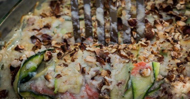 Cuisine-à-Vous - Lasagne van witloof en courgette met gerookte wilde zalm en een crumble van hazelnoot