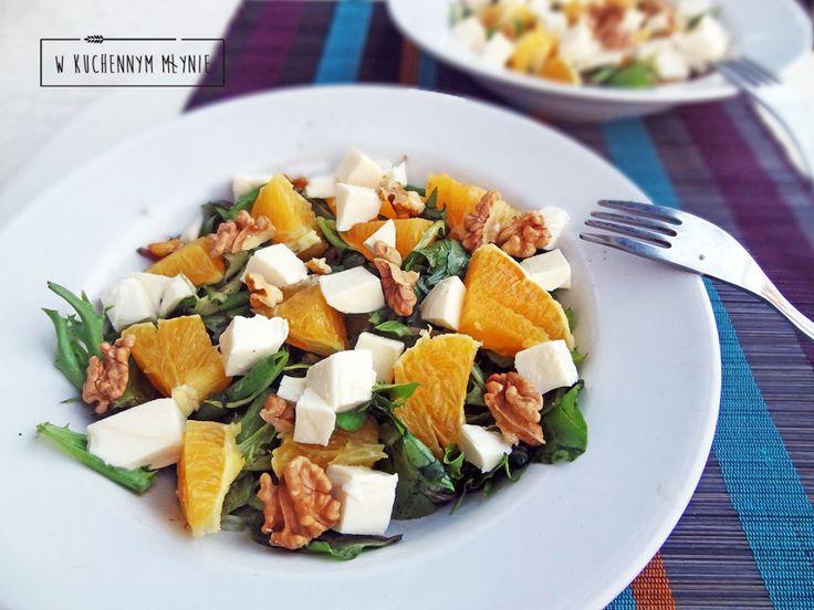 Sałatka z pomarańczą i mozzarellą
