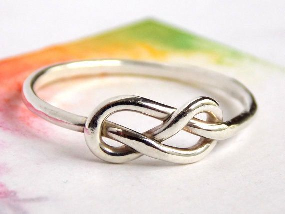 Infinity Knot Ring-- Sterling silver ring, love ring, love knot, promise ring
